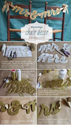 How to plan a #Wedding #Reception ♡ BUDGET WEDDING SIGNS ... cardboard,glue & glitter ♡ https://itunes.apple.com/us/app/the-gold-wedding-planner/id498112599?ls=1=8 ♡ Weddings by Colour ♡ http://www.pinterest.com/groomsandbrides/
