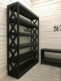Arts And Crafts Office Furniture Industrial Bookcases, Diy Furniture Plans, Steel Furniture, Rustic Furniture, Metal Furniture Design, Decorating Bookshelves, Colorful Furniture, Metal Furniture, Industrial Home Design