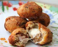 Polpette di pane ripiene con mozzarella e speck blog il mio saper fare