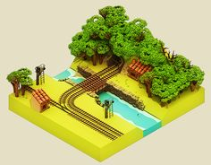 Forest Station Iso on Behance