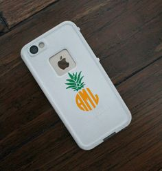 Items similar to BOGO Pineapple Monogram Decal- Pineapple monogram sticker- Monogram Decal- Waterproof Monogram- Dishwasher safe monogram decal on Etsy Cute Cases, Cute Phone Cases, Iphone Cases, Monogram Stickers, Vinyl Monogram, Monogram Design, Pineapple Monogram, Vinyl Projects, Vinyl Designs