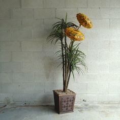 Your place to buy and sell all things handmade Tall Flowers, Starting From The Bottom, Retro Lighting, Lamp Shades, House Plants, Floor Lamp, Greenery, Mid-century Modern, Vintage Items