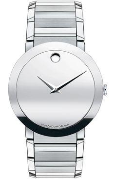 Sapphire Sapphire - Men's Sapphire watch, stainless steel case and wide link bracelet, silver mirror Museum® dial, Swiss quartz movement