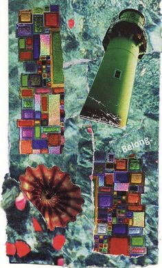 BELONG paper collage art for framing or notecard by MaterialWhirlCollage, $4.99