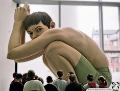 Hyper-realistic Sculpture by Ron Mueck   Bored Panda