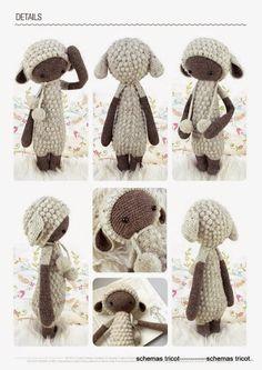 LalyLala - The Doll Project No XIII - Lupo the Lamb - gurumi var - Picasa Web Album