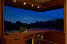 modern home office by Bertram Architects THIS VIEW IS PRICELESS