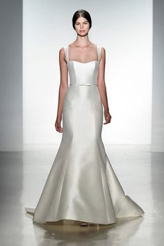 Sleek, sophisticated and modern wedding gown from Amsale.