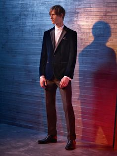 HUGO eveningwear in luxe midnight blue velvet
