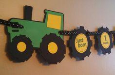 John Deere Tractor Birthday Banner
