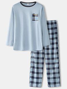 Cute Pajama Sets, Cute Pajamas, Girls Fashion Clothes, Teen Fashion Outfits, Jugend Mode Outfits, Cute Sleepwear, Night Dress For Women, Plaid Pants, Cute Casual Outfits