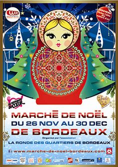 Posters from a Christmas Market in Bordeaux