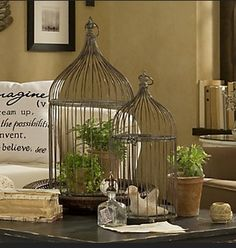Vintage inspired bird cages from France. We have these in the shop www.angelandbb.co.uk