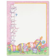 Easter Bunnies Letter Paper   Idea Art
