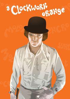 Stanley Kubrick A Clockwork Orange Movie Art Print/Poster Film