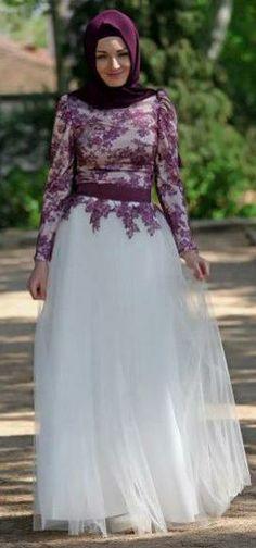 Purple lace gamis