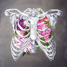Floral Anatomy Ribcage By @trishathompsonadams  _ Also check out our fellow art featuring page @arts_realistic