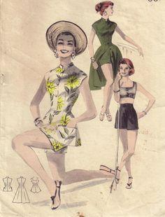 Vintage 50s Beachdress Play Coordinates