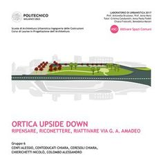 Urban design/planning: project proposal for the district of Milano Ortica, below the Lambrate FS Railway station.  Proposal of a new assect for the centeral public space in G. A. Amadeo street.