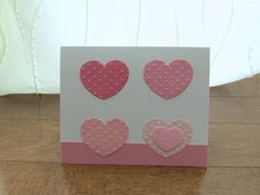 Handcrafted Cards from My Pretty Creativity  www.facebook.com/MyPrettyCreativity #valentines #love #hearts #dots #sparkle #prettyinpink #greetingcards #handmade #handcrafted #cards