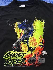 VINTAGE 1992 GHOST RIDER TSHIRT MARVEL COMICS KUBERT RETRO TEE