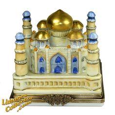 The Majestic Indian Taj Mahal Palace Mausoleum Limoges Box (Rare)