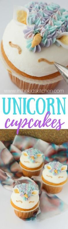 They're magical! Rainbow Unicorn Cupcakes are perfect to celebrate spring, birthdays, or just being a kid (or a kid at heart!)