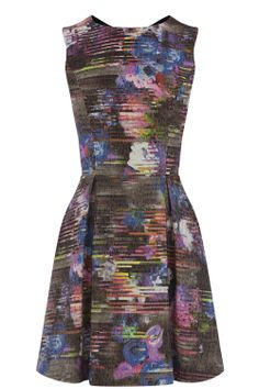Dresses | Multi ABSTRACT FLORAL DRESS | Warehouse