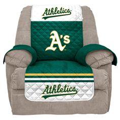 MLB Oakland Athletics Recliner Slipcover, Durable
