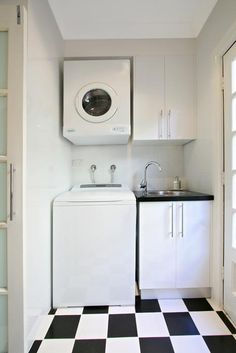 laundry - small space, brilliant!