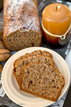 CHEC CU NUCA SI SCORTISOARA | Diva in bucatarie Loaf Cake, No Cook Desserts, Sweet Cakes, Sweet Bread, Fall Recipes, Banana Bread, Food And Drink, Cooking Recipes, Sweets