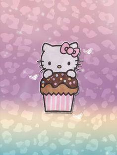 Hello kitty cupcake wallpaper