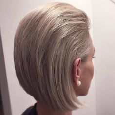 Ash Blonde Slicked Back Bob Hairstyle