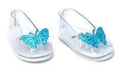 """Cinderella's Slipper Shoes w/Butterflies made for 18"""" American Girl Doll Clothes 