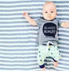 Cute baby boy! Trendy little kid clothes. Unisex joggers for all year, spring/summer/fall/winter.