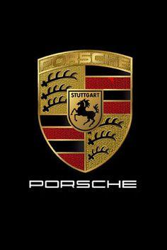 PORSCHE 外側の盾はポルシェの本社があるヴュルテンベルク州の紋章と中央の跳ね馬は同じく本社のあるシュトゥットガルト市の紋章を組み合わせたポルシェのエンブレム。黒い帯は黒い森を意味し、赤い帯が知性を表現している。左上と右下にある黒い角(つの)は、シュトゥットガルトを統治していたヴュルテンベルク王国の伯爵家の紋章をモチーフにしたもので、金の部分は小麦の色で豊かさを示している。