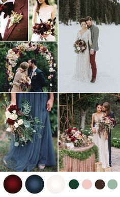 Top 9 Fall Wedding Color Schemes for navy and burgundy, wedding ceremony backdraop, wedding floral decorations, wedding bouquets, wedding dresses dresses blue navy Fall Wedding Color Schemes November Wedding Colors, Winter Wedding Colors, Rustic Wedding Colors, Navy And Burgundy Wedding, Maroon Wedding, Berry Wedding, Wedding Gold, Wedding Color Pallet, Wedding Color Schemes