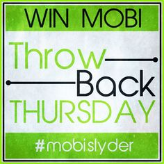 It's mobislyder #ThrowbackThursday #competition time - just RT for a chance to win #mobislyder Go to twitter @mobislyder now! Photo: It's mobislyder #ThrowbackThursday #competition time - just RT for a chance to win #mobislyder Go to twitter @mobislyder now! www.mobislyder.com