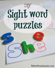 Easy-peasy Sight Word Puzzles
