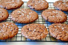 Flourless Chocolate Cookies | recipe via justataste.com