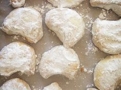 Greek Wedding Cookies - Pies and Plots Debbie Matenopoulos, Cookie Recipes, Dessert Recipes, Delicious Desserts, Yummy Food, Cookie Table, Sweet Pastries, Greek Wedding, Wedding Cookies
