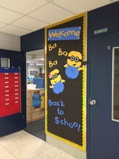 Everybody loves Minions!  Especially when they're welcoming you back to school