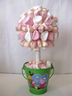 Marsmallow Peppa Pig Tree  http://facebook.com/FiaSweetIdeas