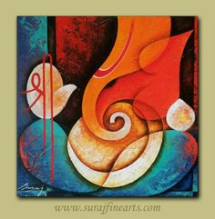 Ganesha Drawing, Lord Ganesha Paintings, Ganesha Art, Jai Ganesh, Indian Traditional Paintings, Indian Paintings, Dance Paintings, Wall Paintings, Eyes Artwork