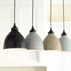 Small Industrial Metal Shade with Adapter for Recessed Can Lights - traditional - lamp shades - by Ballard Designs Industrial Light Fixtures, Industrial Metal, Industrial Lighting, Dim Lighting, Pendant Lighting, Lighting Ideas, Task Lighting, Kitchen Industrial, Overhead Lighting