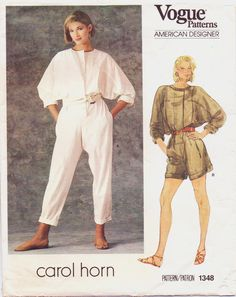 80s Vogue American Designer Pattern 1348 Carol Horn by CloesCloset, $12.00