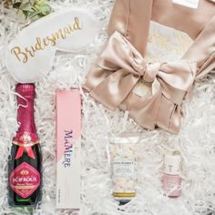 """Propose to your soon-to-be bridesmaids and maid of honor with our luxurious and thoughtfully-curated """"Bridesmaid Proposal"""" gift box. New Product, Product Launch, Curated Gift Boxes, Bridesmaid Proposal Gifts, Spoil Yourself, Will You Be My Bridesmaid, Maid Of Honor, Your Girl, Champagne"""