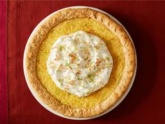 The Food Network test kitchen chefs share their best Thanksgiving desserts, including bourbon apple pie, lime-coconut custard pie and sweet potato pie. Pie Recipes, Baking Recipes, Sweet Recipes, Dessert Recipes, Dessert Ideas, Healthy Desserts, Delicious Desserts, Coconut Custard Pie, Best Pie
