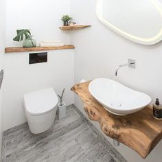 A nature experience with the small guest toilet - Small patio ideas - . - A nature experience with the small guest toilet – Small patio ideas – … – Small pat - Guest Toilet, Small Toilet, Small Downstairs Toilet, Small Sink, Guest Bath, Guest Room, Bathroom Shelves, Bathroom Faucets, Cloakroom Sink