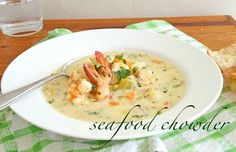 New Ideas for seafood chowder creamy soup recipes Seafood Pizza, Seafood Gumbo, Seafood Dinner, Fish And Seafood, Fish Recipes, Seafood Recipes, New Recipes, Dinner Recipes, Cooking Recipes